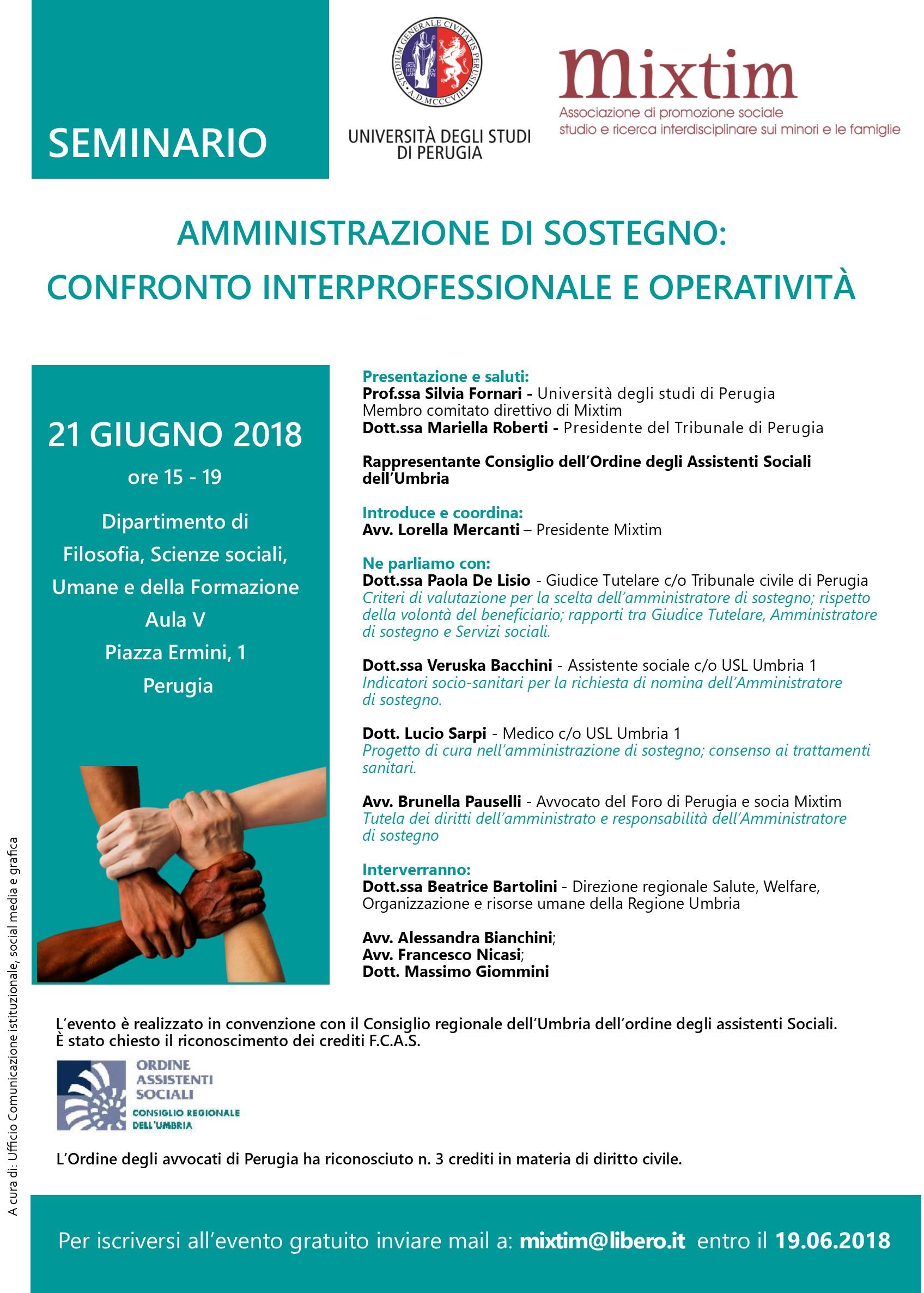 Amministrazione di sostegno: confronto interprofessionale e operatività