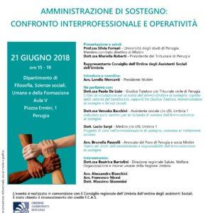 Amministrazione di sostegno: confronto interprofessionale e operatività – seminario