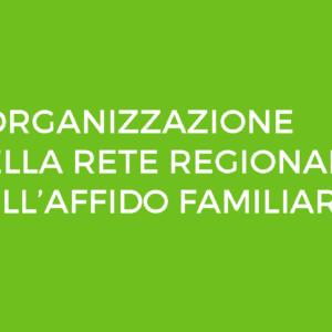L'ORGANIZZAZIONE DELLA RETE REGIONALE SULL'AFFIDO FAMILIARE